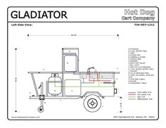 Hot Dog Cart Vending Concession Trailer Stand Brand New Gladiator ...