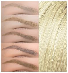 Choosing the right brow color to complement your hair color - frends Natural Red Hair, Natural Brows, Natural Redhead, Light Red Hair, Light Blonde Hair, Hair Color For Fair Skin, Hair Color Dark, Blonde Eyebrows, Mircoblading Eyebrows