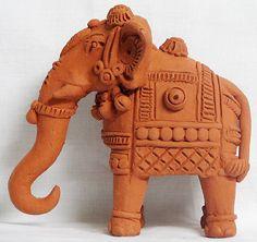 Elephant - Terracotta Statues (Terracotta)