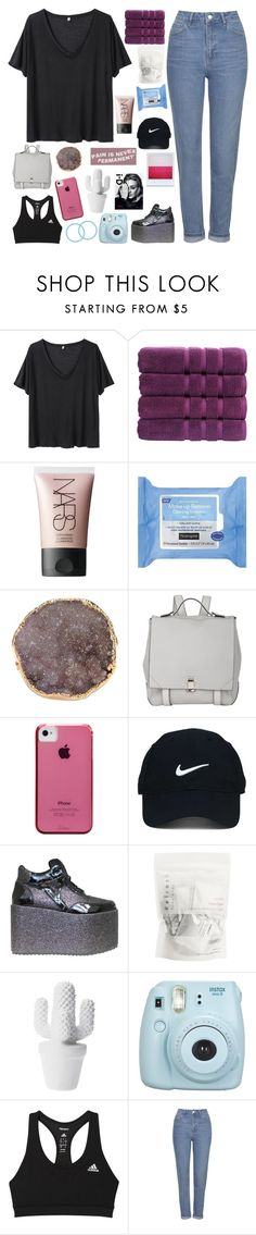 """""""smile again"""" by h0ld-0n-let-g0 ❤ liked on Polyvore featuring R13, Christy, NARS Cosmetics, Neutrogena, Valerie Nahmani Designs, Proenza Schouler, Case-Mate, Nike Golf, adidas and Topshop"""