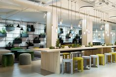 This Swedish Forest-Inspired Office Includes an Interactive Floor That Mimics a…