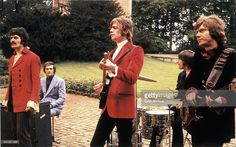 Moody Blues performing outdoors, circa 1968.