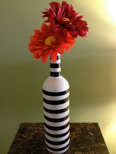 Eclectic Style Vase by BakkCoBottlesandCork on Etsy, $25.00