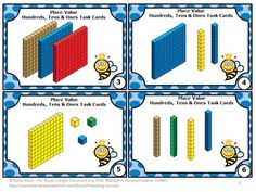 Place Value Games: Here are six FREE Common Core math task cards to help your students practice place value with tens and ones block models.  https://www.teacherspayteachers.com/Product/Place-Value-Games-FREE-DOWNLOAD-Math-Centers-MAB-Activities-Blocks-1136681