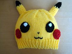 Pikachu Pokemon Inspired Hat Child Size