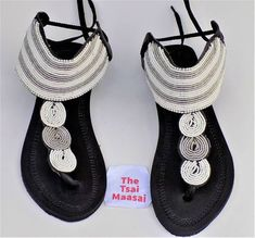 Freezing Summer 2018 New Beach Thick Bottom Foot Sandals Bohemian Beaded Flat Shoes Large Size