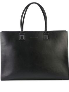 Black cotton Dresden structured tote from WANT Les Essentiels featuring round top handles, a top zip closure, a main internal compartment, a structured design and a front embossed logo stamp. Please note this item is unisex. Designer Totes, Logo Stamp, Embossed Logo, Dresden, Black Cotton, Luxury Branding, Tote Bag, Unisex, Peekaboo Fendi