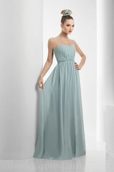 5115bb4bce I like this style for bridesmaids. No fabric flowers. Textured material  maybe! I like empire waist