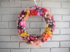 door wreath wedding decor bohemian floral wreath by ShabbyRoad