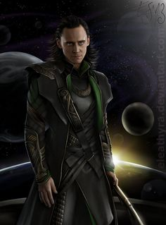 Loki and the universe by eleathyra on deviantART