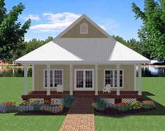 Small Plan, Big Heart - 2568DH   Cottage, Country, Southern, Narrow Lot, 1st Floor Master Suite, PDF   Architectural Designs