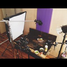 Behind the scenes! Cookbook photo shoot with @isachandra. #isadoesit