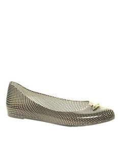 #Melissa has done it again! These cute mesh-looking rubber flats come in black, fuchsia and nude.  Cute design on the toe.