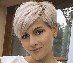Short Shaved Hairstyles, Short Pixie Haircuts, Cute Hairstyles For Short Hair, Short Hair Cuts For Women, Pixie Hairstyles, Curly Hair Styles, Short Silver Hair, Short Grey Hair, Pelo Pixie