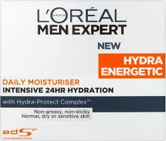 #AkcherrybombReview - loreal men expert hydra energetic daily moisturiser -7/10 Yes its for man, yes I am female -However I have noticed Men's skincare is far cheaper than women's and do more! Right well I have been using this now for 3-4 weeks its fab. It says 24 hour hydration -feels an intense mosituriser, however as I have oily skin I only use this at night.