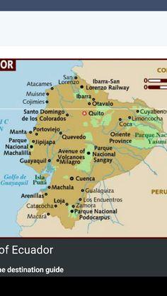 Map Of Ecuador Ecuador South America Ecuador Map Mapa De - Map of ecuador south america