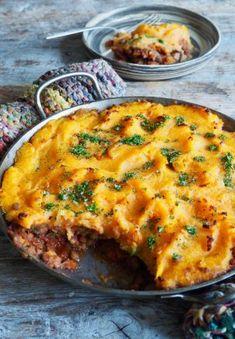 Shepherd's pie – en vegetarisk variasjon – Food On The Table – Oppskrifters Beef Stroganoff, Cottage Cheese, Lasagna, Pesto, Quiche, Zucchini, Cravings, Muffins, Roast