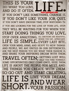 Nutshell advice for living your life