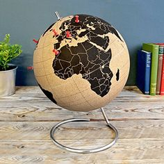 Cork Globe By Suck Uk. There are few things more fulfilling than travelling the world, with this brilliantly quirky cork globe you can keep track of all your ex Quirky Decor, Quirky Gifts, Unique Gifts, Holiday Gift Guide, Holiday Gifts, World Map Travel, Co Working, Red Candy, Globes