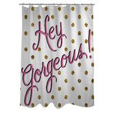 Found it at Wayfair - Hello Gorgeous Dots Shower Curtain
