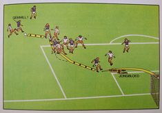 Diagram of Archie Gemmill's goal against the Netherlands at the 1978 World Cup, taken from the Marshall Cavendish Football Handbook.