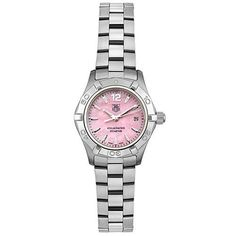 TAG Heuer Womens WAF1418BA0812 Aquaracer Quartz Stainless Steel Pink Watch ** See this great product.Note:It is affiliate link to Amazon.