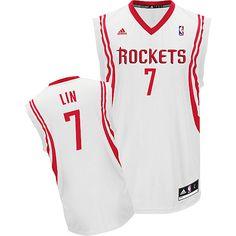 Adidas NBA Houston Rockets 7 Jeremy Lin New Revolution 30 Swingman Home  White Jersey Nba Hats b0399ad45