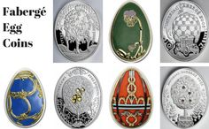 Seven Exquisite Fabergé Egg Coins Liberty Coin & Currency