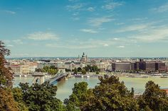 View of Pest from Castle Hill. Budapest.