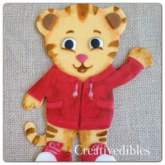 Daniel Tiger Inspired Cake Fondant topper by creativedibles, $20.00