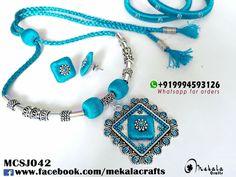 Blue silk thread