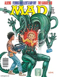 "Kurtzman/Elder. mad magazine the idiotical R.I.P. H.R. Giger, Artist, Designer of ""Alien"" Classic MAD, MAD Covers, H.R. Giger, Alien, Aliens, Movies, Scienc..."