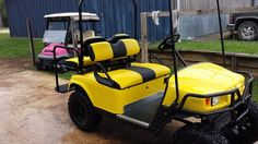 Custom golf cart seat upholstery starting at $250 to recover all four pieces! These seat covers are custom made with the colors of your choice. Come visit us at http://tricked-out-rides.com to see pics of more awesome custom upholstery.