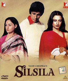 """Silsila"" (India) - a film by Go To Movies, Old Movies, Great Movies, Hindi Movies Online, Watch Free Movies Online, Amitabh Movies, Rekha Actress, Bollywood Posters, Vintage Bollywood"