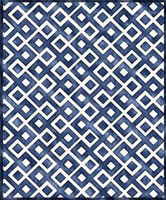 Diamonds Rug in Blue - @Noritta Mitchell R. Cool Rugs