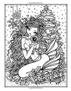 A Whimsy Girls Christmas Coloring Book: Festive Girls, Fairies, & Blank Coloring Pages, Abstract Coloring Pages, Mermaid Coloring Pages, Free Adult Coloring Pages, Coloring Books, Mandala Coloring, Coloring Sheets, Free Coloring, Creation Art
