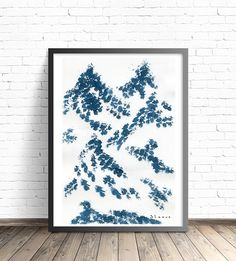 Abstract Mountain Art Print. Modern print. Abstract watercolor print. Modern home decor. Nature art print. Modern Art print. Wall posters by DreamyMeisme on Etsy https://www.etsy.com/listing/469201988/abstract-mountain-art-print-modern-print