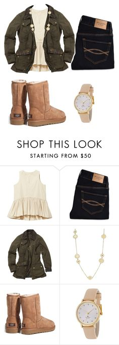 """"""""""" by cmsgirl ❤ liked on Polyvore featuring Abercrombie & Fitch, Barbour, Kate Spade and UGG Australia"""