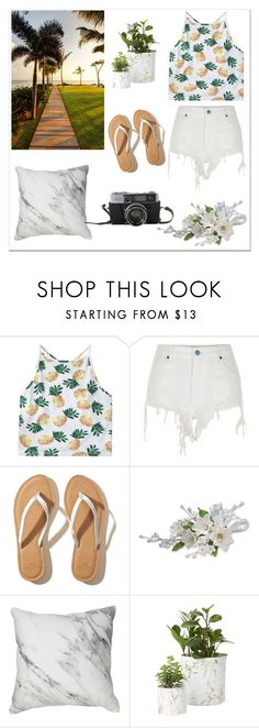 """Summer day is coming"" by oosilk-bedding ❤ liked on Polyvore featuring River Island and Hollister Co."