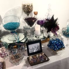 Beautiful Peacock Inspired Candy Buffet created by Unique Indulgences