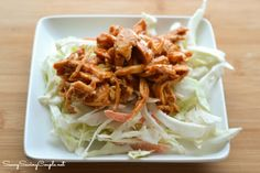 pulled chicken Crock Pot Pulled BBQ Chicken Over Fresh Coleslaw Pulled Chicken Recipes, Bbq Chicken, Slow Cooker Recipes, Crockpot Recipes, Coleslaw Recipes, Fabulous Foods, Gluten Free Recipes, Glutenfree, Crock Pot