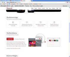 Mi pantallazo, de mi boton de Pinterest colocado en mi barra de navegación. Pinterest App, Barbell, Buttons, Literatura