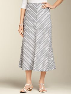 Talbots - Striped Linen Skirt | New Arrivals | Misses