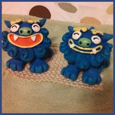 Shi shi dogs from Okinawa. One wards off evil spirits and the other keeps good spirits in. A gift from my brother who lives in Okinawa for the military. They are in our sons room... it already feels more peaceful in the house