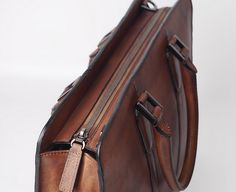 New BriefcaseGifts For MensLeather inch laptop image 2 Laptop Briefcase, Leather Laptop Bag, Briefcase For Men, Leather Briefcase, Leather Bags, Leather Tooling, Leather Handbags, Small Notebook, Notebook Bag