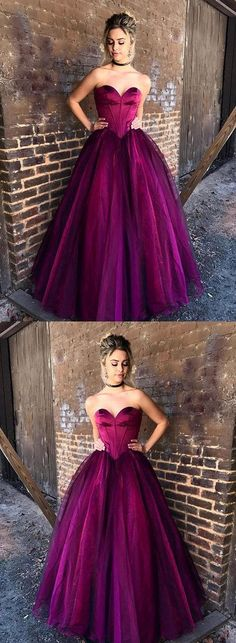 Fuchsia Prom Dresses A-line Floor-length Sweetheart Sexy Prom Dress/Evening Dress JKL311 #prom #promdress #evening #eveningdress #dance #longdress #longpromdress #fashion #style #dress #Sweetheart #Fuchsia #eveningdresses