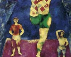 Three Acrobates - Marc Chagall