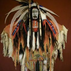 Native American Indian (Kills Bear) Spirit Mask