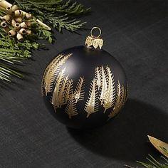 Lumi Ball Matte Black Ornament