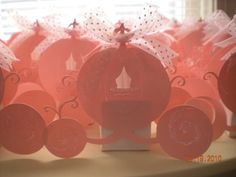 Cinderella Pumpkin Coach Party Favors- Made with the Happily Ever After Cricut Cartridge